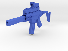 Stubby M4 CQB SMG in Blue Processed Versatile Plastic
