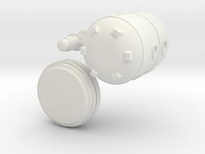 Small Modular Reactor Mug in White Natural Versatile Plastic