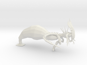 Queen Xeno - Variation 1  in White Natural Versatile Plastic: 15mm