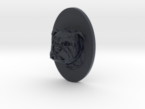 Bulldog Face + Half-Voronoi Mask (002) in Black PA12