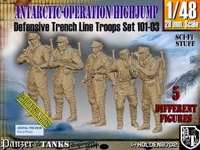 1/48 Antarctic Troops Set101-03 in Smooth Fine Detail Plastic