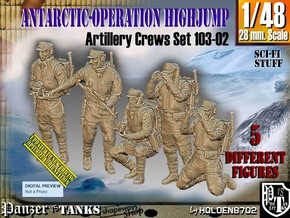 1/48 Antarctic Troops Set103-02 in Smooth Fine Detail Plastic
