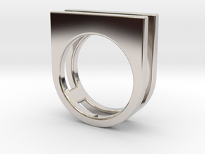 Ring - Equalit in Rhodium Plated Brass: 4 / 46.5