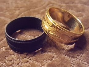"""Custom Ring made from 1 Waveforms (""""I Love You"""") in Polished Brass"""