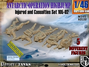 1/46 Antarctic Troops Set105-02 in Smooth Fine Detail Plastic