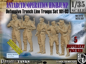 1/35 Antarctic Troops Set101-03 in Smooth Fine Detail Plastic