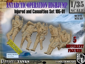 1/35 Antarctic Troops Set105-01 in Smooth Fine Detail Plastic