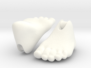 Human feet for 'Storybook' BJD in White Processed Versatile Plastic