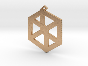 Large Pandora's Box Pendant  in Natural Bronze