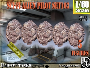 1/60 Sci-Fi Alien Pilots set103 in Smooth Fine Detail Plastic