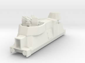 Panzerzüge flakewagon armored train ho in White Natural Versatile Plastic