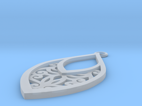 Edelmar pendant in Smooth Fine Detail Plastic: Small