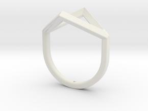 Ring - Portl in White Premium Versatile Plastic: 4 / 46.5