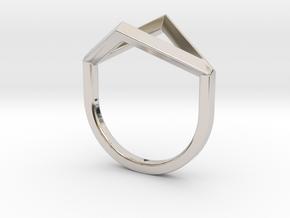 Ring - Portl in Rhodium Plated Brass: 4 / 46.5