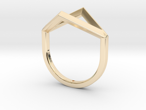 Ring - Portl in 14k Gold Plated Brass: 4 / 46.5