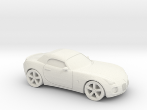 1/25 2005-09 Pontiac Solstice Roadster in White Natural Versatile Plastic