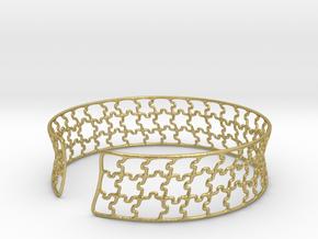 jigsaw pattern cuff in Natural Brass: Medium