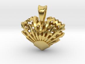 Romantic Sunrise Pendant in Polished Brass: Small