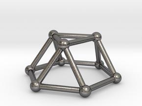 0726 J03 Triangular Cupola V&E (a=1cm) #2 in Polished Nickel Steel