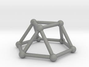 0726 J03 Triangular Cupola V&E (a=1cm) #2 in Gray PA12