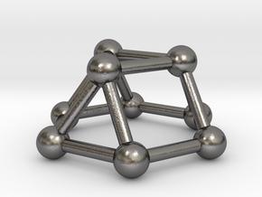 0727 J03 Triangular Cupola V&E (a=1cm) #3 in Polished Nickel Steel