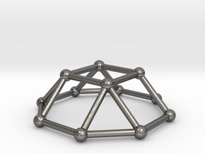 0729 J04 Square Cupola V&E (a=1cm) #2 in Polished Nickel Steel