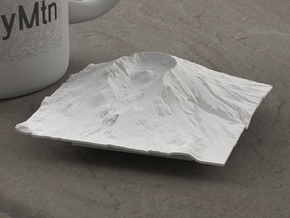3'' Mt. St. Helens, Washington, USA in White Natural Versatile Plastic