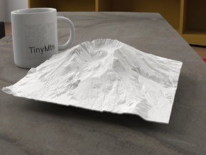 8'' Mt. St. Helens, Washington, USA in White Natural Versatile Plastic