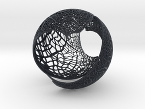 Spherical Leaf Lampshed (small) in Black PA12