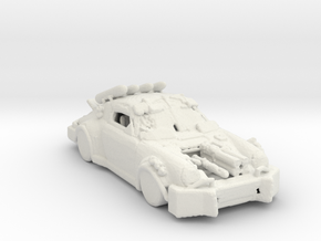Death Race !4ks Car 160 scale in White Natural Versatile Plastic