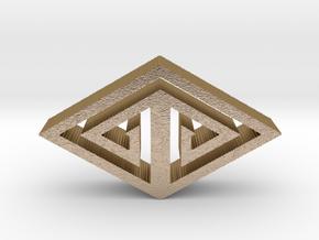 tribal eye hangerless pendant 4 in Polished Gold Steel