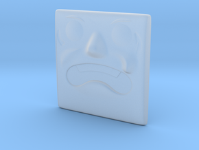 Large Surprised Face in Smoothest Fine Detail Plastic