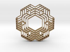 hangerless pendant 10 in Polished Gold Steel
