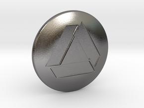 Shooter Knob - Nuclear TNA Symbol in Polished Nickel Steel
