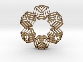 hangerless pendant in Polished Gold Steel