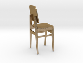 Miniature Chair in Polished Gold Steel