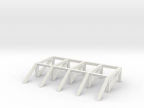 Log Ramp in White Natural Versatile Plastic