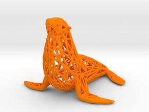 Sea lion in Orange Processed Versatile Plastic