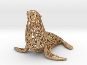 Sea lion in Natural Bronze