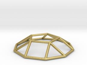 0731 J05 Pentagonal Cupola E (a=1cm) #1 in Natural Brass