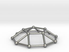 0732 J05 Pentagonal Cupola V&E (a=1cm) #2 in Natural Silver