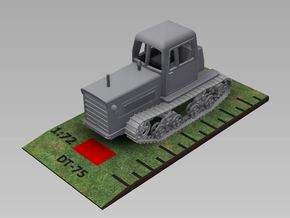 1/72nd scale soviet DT-75 tractor in Smooth Fine Detail Plastic