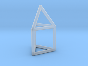 J07 Elongated Triangular Pyramid E (a=1cm) #1 in Smooth Fine Detail Plastic