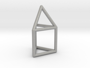 J07 Elongated Triangular Pyramid E (a=1cm) #1 in Aluminum