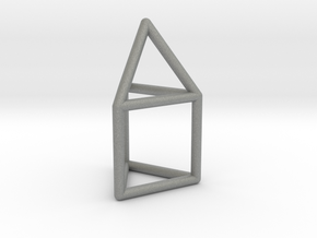 J07 Elongated Triangular Pyramid E (a=1cm) #1 in Gray Professional Plastic