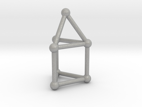 0738 J07 Elongated Triangular Pyramid (a=1cm) #2 in Aluminum