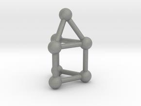 0739 J07 Elongated Triangular Pyramid (a=1cm) #3 in Gray PA12