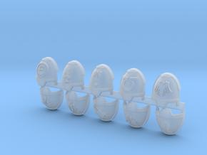 Commission 53 Gravus Shoulder Pads in Smoothest Fine Detail Plastic