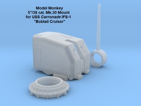 "1/164 5""/38 Single Mount for USS Carronade IFS-1 in Smoothest Fine Detail Plastic"
