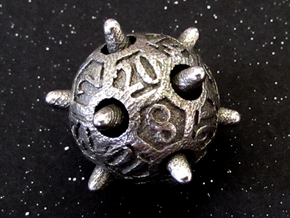 Sputnik Die20 in Polished Bronzed Silver Steel